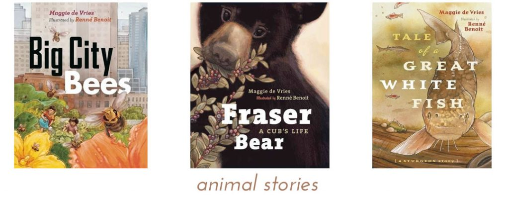 animal stories by Maggie de Vries