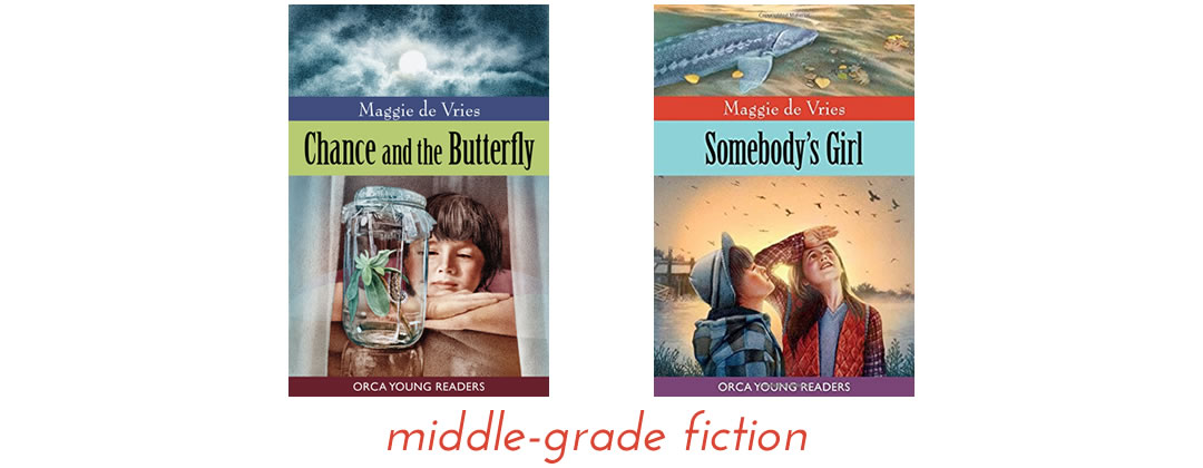 middle grades fiction by Maggie de Vries